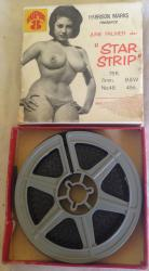 c1950/60s 8mm adult glamour erotic film star strip