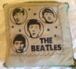 original 1960s Beatles cushion