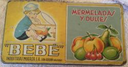 vintage bebe continental confectionary  tin.