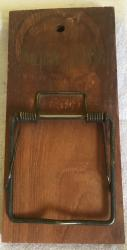 1950s wooden bill holder wall mounted