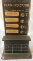 very rare german bing tin plate o gauge train indicator