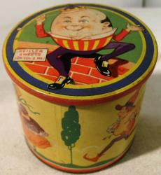 early keiller sweets nursery rhymes cardboard tin