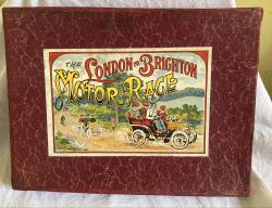 very rare c1910 Edwardian London to Brighton race game complete.