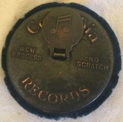 scarce vintage Columbia records promotional record cleaner