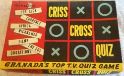 1957 chad valley criss cross quiz game granada tv.