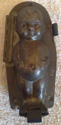 very rare 1920s german tin doll chocolate mould