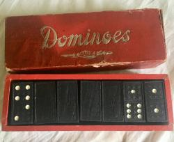 pre war bavarian ( germany) made wooden domino set