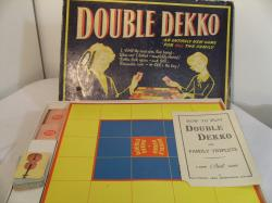 1950's double dekko board game