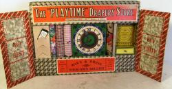 wonderful 1930's playtime drapery store toy , boxed