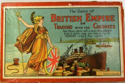 c1930's glevum british empire board game ( complete)