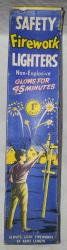 1960s firework lighters shop trade box with contents