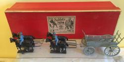 French Mignot lead military wagon set boxed