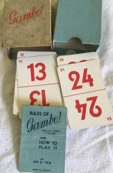 1930s ar-e-tee gumbo card game boxed and complete
