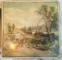 vintage hawkes of Chelmsford flatford mill biscuit tin