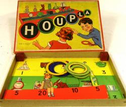 c1920's boxed houpla set, complete