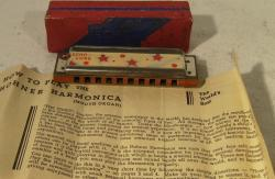 early vintage hohner echo luxe harmonica ( boxed)