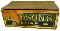 early hudsons soap shop display storage box