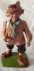 original vintage britains village idiot lead figure.