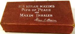 1910  sir hiram maxim's pipe of peace ( boxed)