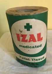 original 1950s unopened izal toilet paper roll