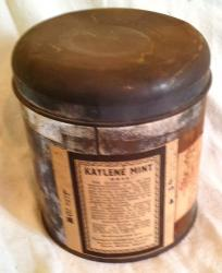 1934 unused tin herbal kaylene powder lot 2