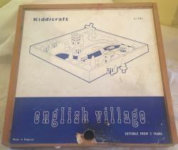 1950s kiddicraft wooden English village set , boxed