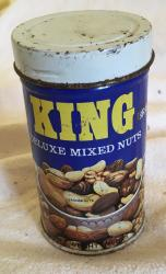 1970s King nuts tin joke peanut tin