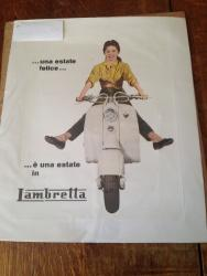 wonderful original c1957 Italian lambretta scooter dealership poster