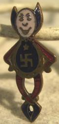 original vintage enamel good luck charm pin brooch