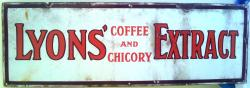 original early lyons coffee / chicory enamel sign