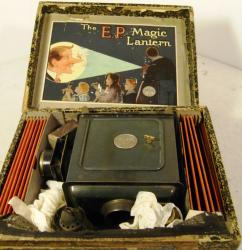 early french tinplate magic camera boxed set complete