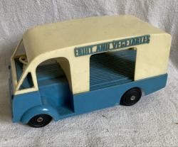 scarce mettoy plastic fruit and vegetables van