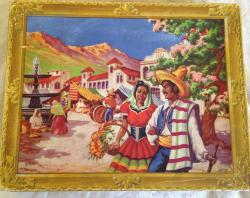 1950s waddingtons 470 pece jigsaw Mexico, complete