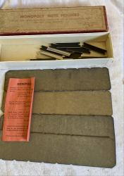 early monopoly cardboard note holders boxed