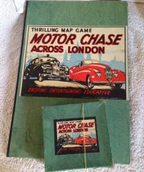 1930s geographia motor chase around london board game