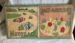 scarce vintage gibsons motor race / race around board game complete