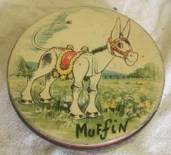 rare thornes muffin the mule toffee tin.