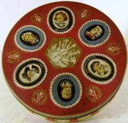 vintage jacobs great composers biscuit tin