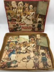 stunning Ernest Lister / Louis Wain set of 4 childrens jigsaws boxed