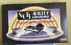 1991 spears note ability musical board game, complete