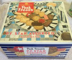 1970s peek frean large 4lb family  biscuit tin