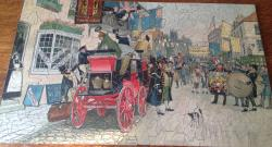 c1910 parkers 360 piece wooden push fit jigsaw pickwick papers.