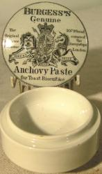 early burgess anchovy paste pot lid and pot