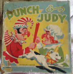 1960s tin plate peter pan punch and judy toy