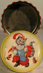 vintage george horner puss in boots sweet tin
