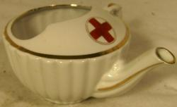 rare  wwi porcelain red cross babies feeding bowl