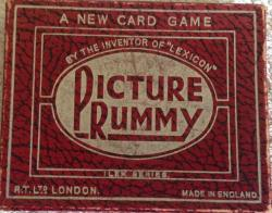 pre war picture rummy card game complete