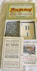 1916 boxed rummy card game use made