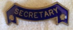 enamel secretary lapel badge