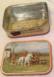 1960s sharpes hunting toffee tin